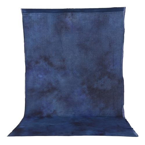 Buy 1.8*2.7m 100% Pure Cotton Muslin Collapsible Retro Tie-Dyed Blue-Grey Backdrop Background Photo Studio Portrait Photography