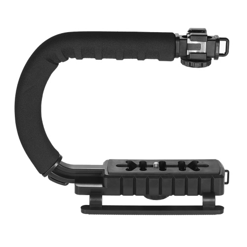 3 Shoe Mounts U/C Shaped Bracket Holder Handle Handheld Video Action Stabilizer Grip for iPhone 7 Plus 6s 6 Plus for Canon Nikon Sony DSLR Camera Camcorder от Tomtop.com INT
