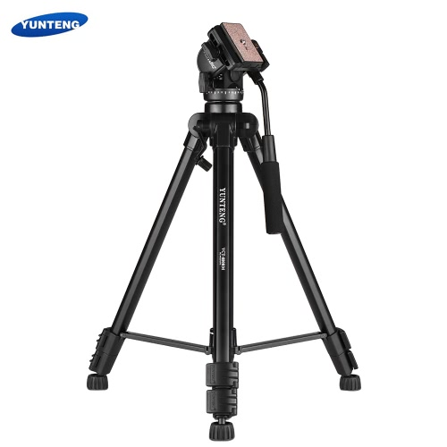 Buy YUNTENG VCT-880 Portable Aluminum Alloy Tripod 3-Section Telescoping 2-Way Damping Ball Head Canon Nikon Sony DSLR Camera Camcorder Max Load Capacity 5kg