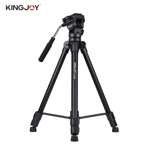 Buy Kingjoy VT-1500 166cm/5.4ft Portable Lightweight Camera Video Tripod Panoramic Damping Head Aluminum Alloy Tube Max. Load 10kg/22Lbs Canon Nikon Sony A7 DSLR Camcorder Studio Photography Filming