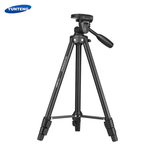 YUNTENG VCT-580 Portable Lightweight Aluminum Alloy Tripod Max. Load 1.5kg with 1/4 Screw Supports 360-degree Panoramic Vertical Shooting for Nikon Canon Sony DSLR Cameras Camcorders