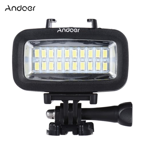 Buy Andoer High Power 700LM Diving Video Fill-in Light LED Lighting Lamp Waterproof 40M 1900mAh Built-in Rechargeable Battery Diffuser GoPro SJCAM Xiaomi Yi Sports Action Camera