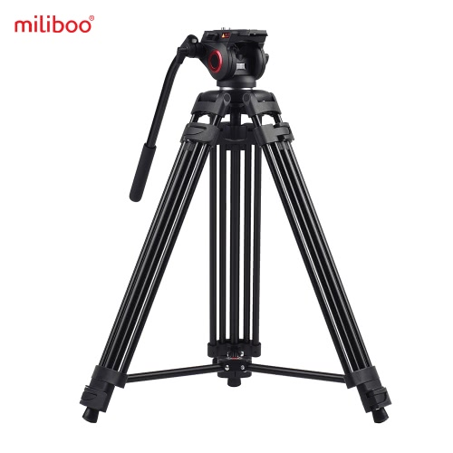 Miliboo MTT601A Professional Photography Aluminum Alloy Tripod Stand 3 Sections with 360° Panorama Fluid Hydraulic Bowl Head Max. Height 153cm/ 5ft Load Capacity 10kg for Canon Nikon Sony DSLR Cameras Camcorders от Tomtop.com INT
