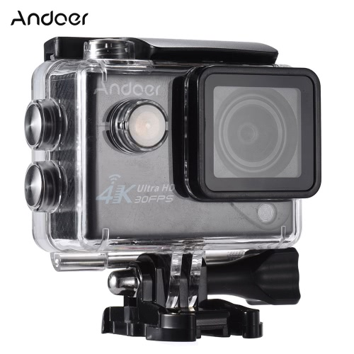 Andoer 4K 30FPS 1080P 60FPS Full HD Wifi 170°Wide Angle Outdoor Action Camera