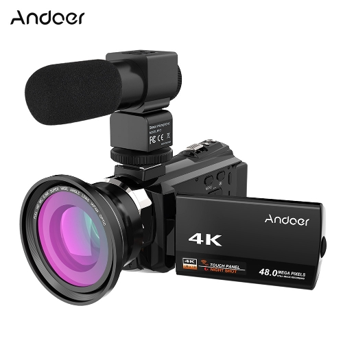 $16 OFF Andoer 4K 1080P 48MP WiFi Digital Video Camera,free shipping $136.99
