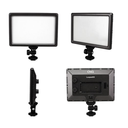 Luxpad22 Pro Ultra Thin 112-LED 11W Video Light Pad for Canon Nikon DSLR Camera DV Camcorder от Tomtop.com INT