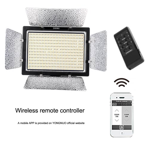 YONGNUO YN900 CRI 95+ Wireless LED Video Light Panel 3200K-5500K 7200LM 54W Lighting for Canon Nikon Camcorder от Tomtop.com INT
