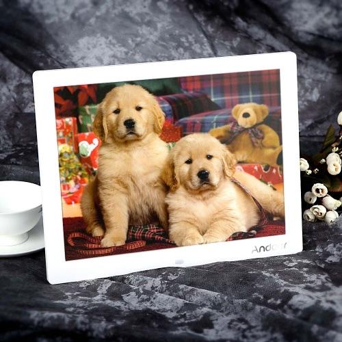 Buy Andoer 15'' HD TFT-LCD 1024*768 Digital Photo Frame Alarm Clock MP3 MP4 Movie Player Remote Desktop