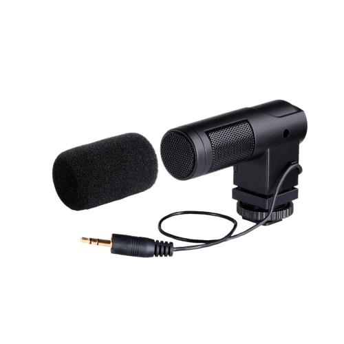 BOYA BY-V01 Stereo X/Y Mini Condenser Microphone / Mic for Canon Nikon Pentax Sony DSLR Camcorder от Tomtop.com INT
