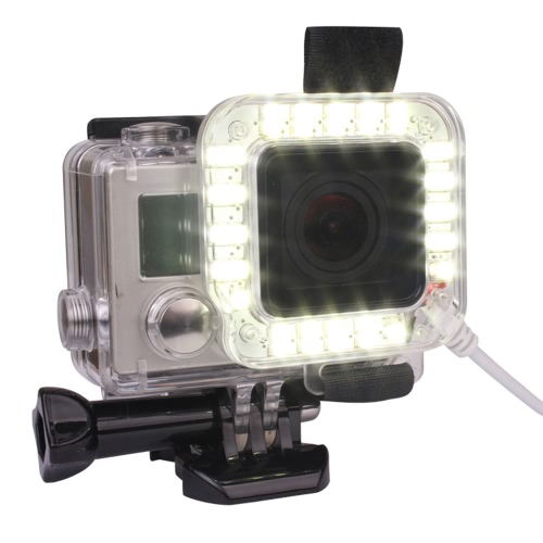 Andoer USB 20 LED Lens Ring Shooting Nightshot Flash Fill Light Lamp for New GoPro Hero 4/ 3+/ 3 Standard Waterproof Housing Case от Tomtop.com INT