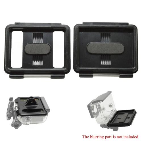 Buy Andoer 2 1 Skeleton Backdoors Fixed Pin Block Waterproof Case Backdoor + Perforated Cover GoPro Hero3+/4 New Hero3 Camera Housing