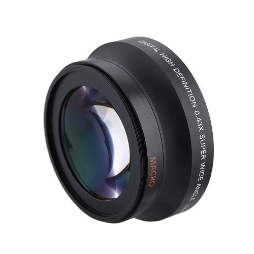 Buy HD 72MM 0.43x Super Wide Angle Lens Macro Attachment Conversion Canon Nikon Sony Pentax Camera