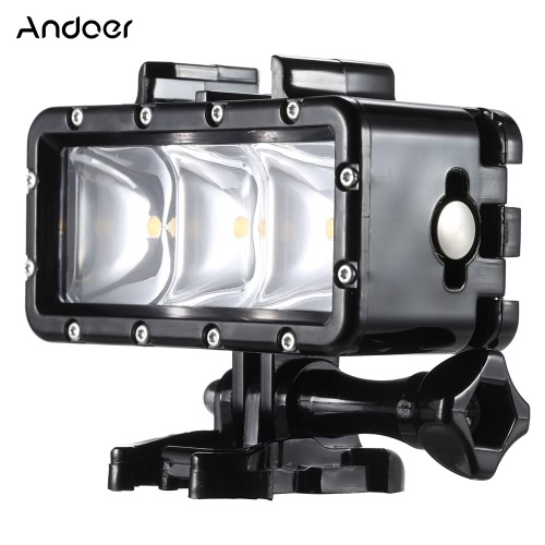 Portable Multi-functional Diving Waterproof Dimmable Video Light Mini LED Fill Light Selfie Light Spotlight with Quick Release Buckle Mount Screw Wrench for GoPro Hero 4 3+ 3 2 1 SJCAM SJ4000 SJ5000 Dazzne P2 Xiaomi Yi Sports Action Camera 30m Underwater от Tomtop.com INT