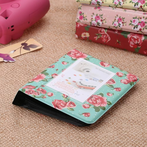 Buy 64 Pockets Camera Photo Album Holder Vintage Retro Rose Pattern Book Style Mini Fuji Instax Name Card 7s 8 25 50s 90 LG PD233 PD221 PD239