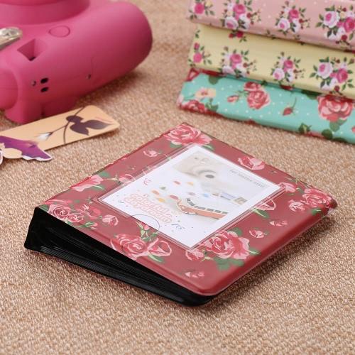 Buy 64 Pockets Camera Photo Album Holder Vintage Retro Rose Pattern Book Style Mini Fuji Instax Name Card 7s 8 25 50s 90 LG PD233 PD221 PD239