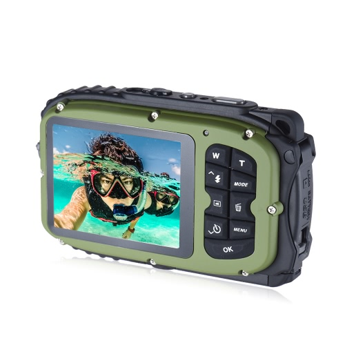 "16MP 2.7"" LCD Waterproof Digital Video Camera Mini Camcorder DV Underwater Max 10M Diving 8X Digital Zooming Face Detection от Tomtop.com INT"