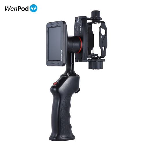 "WenPod GP1+ Adventure Camera Stabilizer Digital Stabilizer Handheld Gimbal with 270�� Rotatable 3.5"" LCD Built-in Monitor for GoPro Hero 3/3+/4 Action Cameras"