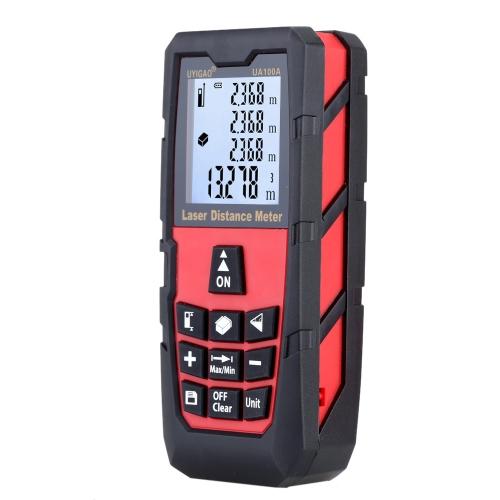 Buy 100m Digital Laser Distance Meter Handheld Range Finder Measure Area Volume Self-calibration Level Bubble Electronic Ruler High Precision