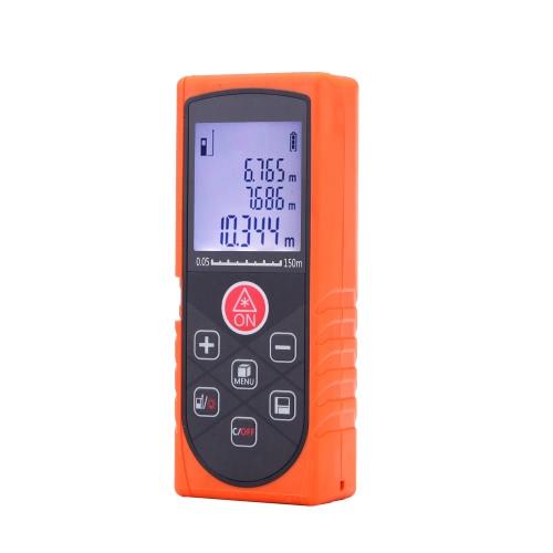 Buy 150m/492ft Mini Handheld Digital Laser Distance Meter High Precision Range Finder Area Volume Measurement Level Bubble