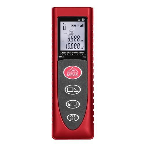Buy KKmoon Mini Handheld 40m/131ft 60m/192ft Digital Laser Distance Meter Range Finder Diastimeter Area Volume Measurement High-precision Rangefinder m/in/ft