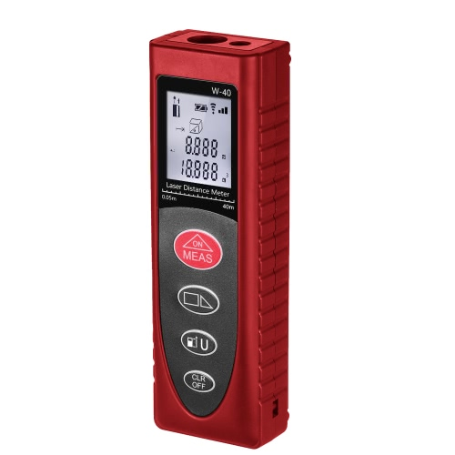 KKmoon Mini Handheld 40m/131ft 60m/192ft Digital Laser Distance Meter Range Finder Diastimeter Distance Area Volume Measurement   High-precision Rangefinder m/in/ft от Tomtop.com INT
