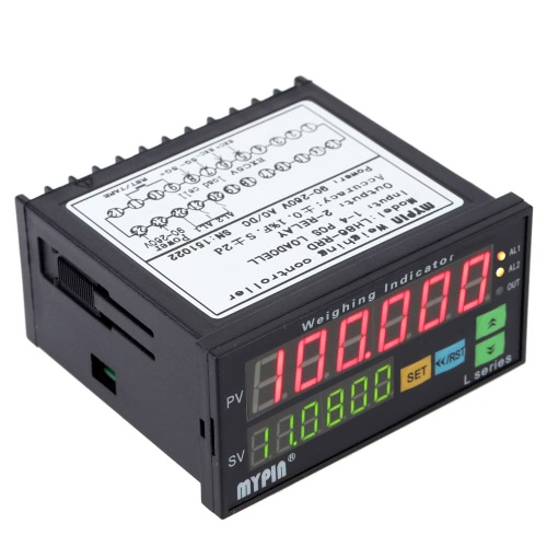 Buy Digital Weighing Controller Load-cells Indicator 1-4 Load Cell Signals Input 2 Relay Output 6 Digits LED Display