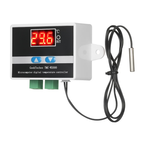 Buy GeekTeches TMC-W2000 DC12V High Precision LCD Digital Temperature Controller Thermostat Waterproof Sensor Probe