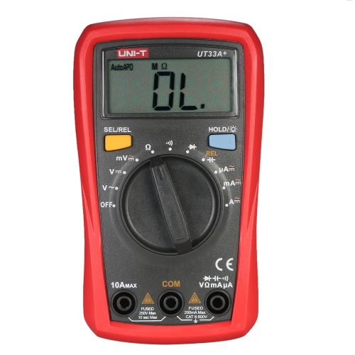 Buy UNI-T UT33A+ Palm Size Digital Multimeter Auto Range Handheld Multimeters Backlight LCD Display DC AC Voltage Current Meter Resistance Capacitance Tester