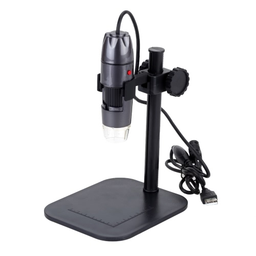 Buy 20-800X 8LED USB Digital Microscope Zoom Endoscope Magnifier Adjustable Stand 0.3MP Video Camera