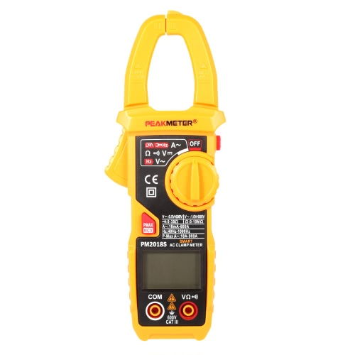 Buy Professional Smart Digital AC Current Clamp Meter LCD Multimeter Voltage Resistance Continuity Measurement Tester Automatic Range