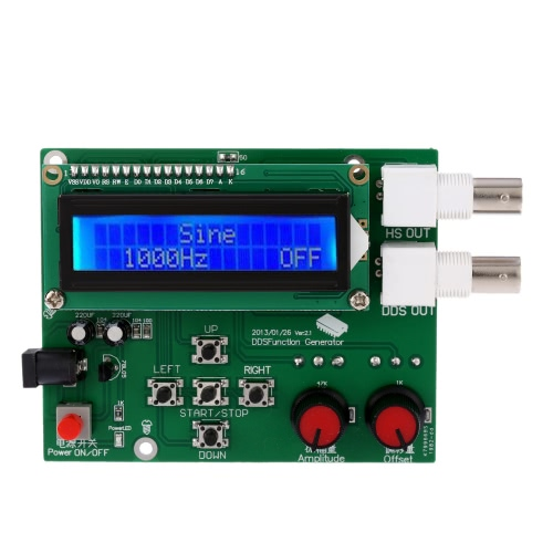 Buy 1Hz-65534Hz LCD DDS Function Generator Signal Module Sine Square Sawtooth Triangle Wave