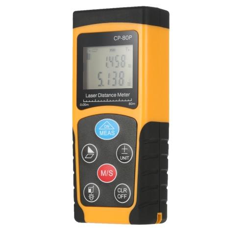 Buy 80m Portable Handheld Digital Laser Distance Meter High Precision Range Finder Area Volume Measurement Data Storage Backlight