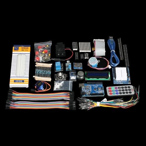 Buy Ultimate UNO R3 Starter Kit Arduino Servo Motor Relay RTC LED Stepper LCD1602 PIR DHT11 Sensors Breadboard Jumper Wire