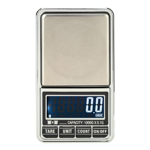 Meterk Professional Mini Digital Scale Jewelry Electronic Pocket Scale Precision Balance 600g*0.01g / 1000g*0.1g от Tomtop.com INT