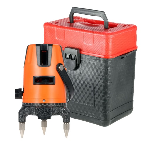 2 Lines Professional Horizontal Vertical Automatic Leveling Laser Level with Protective Glasses от Tomtop.com INT