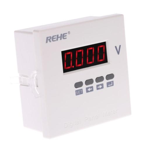 Buy 96*96mm Digital Single Phase AC Voltage Panel Meter Voltmeter Ratio Programmable AC500V AC220V