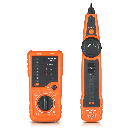 Meterk Multi-functional RJ11 RJ45 Cable Tester Handheld Line Finder Wire Tracker Cable Check Wire Measuring Instrument for Network Maintenance Collation от Tomtop.com INT