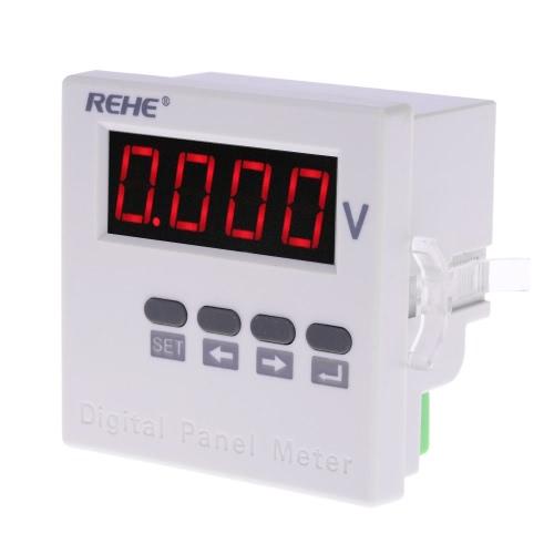 Buy 71*71mm Digital Single Phase AC Voltage Panel Meter Voltmeter Ratio Programmable AC500V AC220V