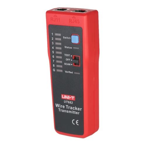 Buy UNI-T UT682 Multi-functional Handheld Wire Tester Tracker RJ11 RJ45 Line Finder Cable Testing Tool Network Maintenance