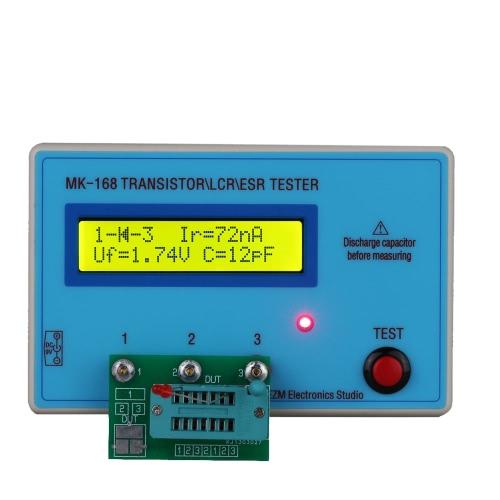 Buy Portable MK168 LCD Backlight Transistor Tester Diode Inductance Capacitance Resistance ESR Meter MOS/PNP/NPN L/C/R Testing