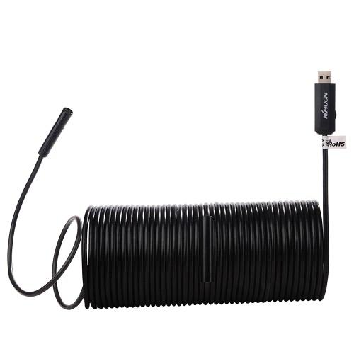 Buy KKmoon 8.5mm USB Endoscope Waterproof USB2.0 Handheld HD Borescope Inspection Camera 2.0 Megapixel CMOS Adjustable LED Lights 2M/5M/10M/15M Cable Laptops Computers PC