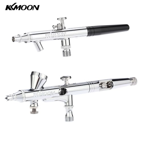 KKmoon Professional 2 Airbrush Set Spraying Model Gravity Feed&Suction Air Brush Kit for Art Painting Tattoo Manicure Double Action 0.25&0.35mm Spray Gun