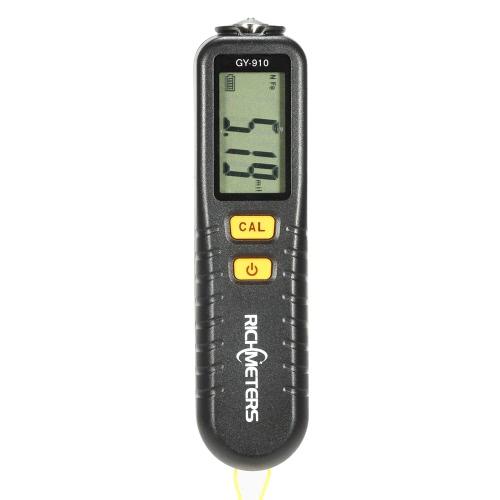 Buy RICHMETERS GY910 Handheld Digital Coating Thickness Gauge Tester Fe/NFe Coatings LCD Display
