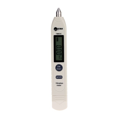 LCD Portable Pen-type Digital Vibration Meter Vibrometer Vibration Analyzer Tester Acceleration/Velocity/Displacement Measurement