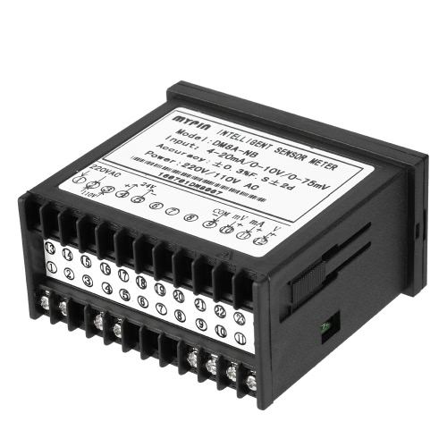 Buy Multi-functional Intelligent Digital Sensor Meter LED Display 0-75mV/4-20mA/0-10V Input