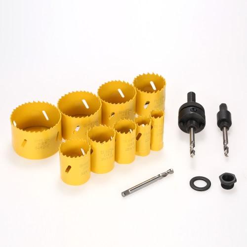 Buy 119-64mm M42 HSS Bi-metal Hole Saw Kit Drilling Tool Arbor Pilot Drill Set Plumber Electrician Carpenter