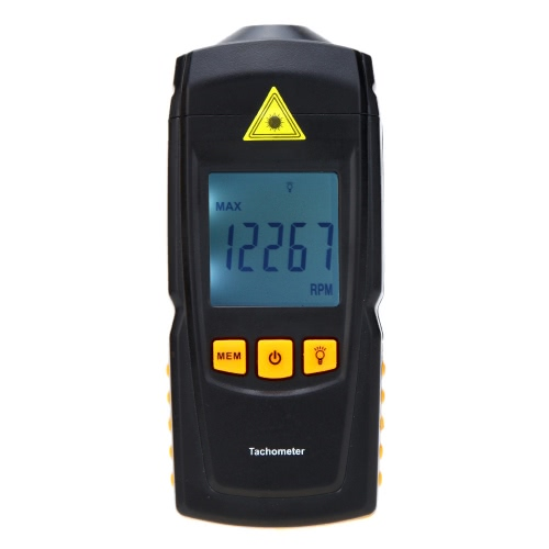 Buy Non-contact GM8905 Digital Laser Tachometer Tach Meter Tester Wide Measuring Range 2.5-99999RPM LCD Display