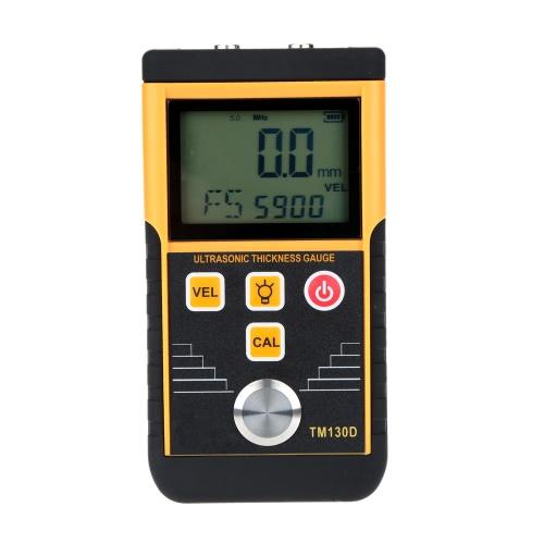Buy 1.2-225mm Digital Ultrasonic Thickness Gauge Tester Depth Meter LCD Display High Accuracy