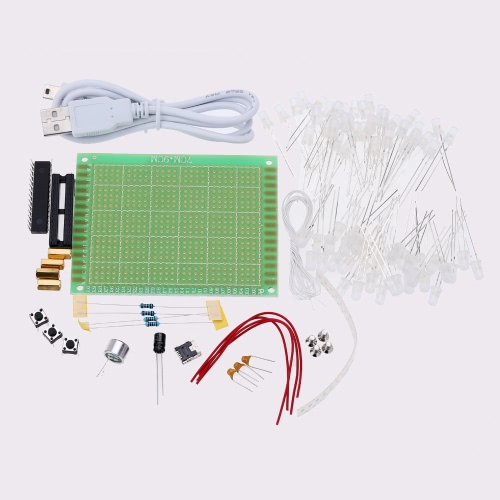 E0804 1 da1f nqZs diy led cube kit 4*4*4 blue light 64pcs leds sound control sales  at aneh.co