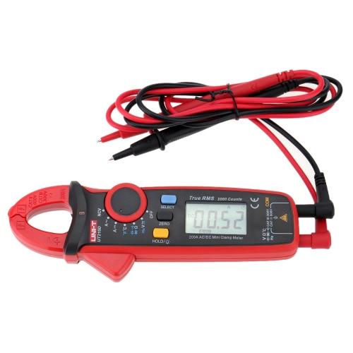 UNI-T UT210D Digital AC/DC Current Voltage Resistance Capacitance Clamp Meter Multimeter Temperature Measurement Auto Range